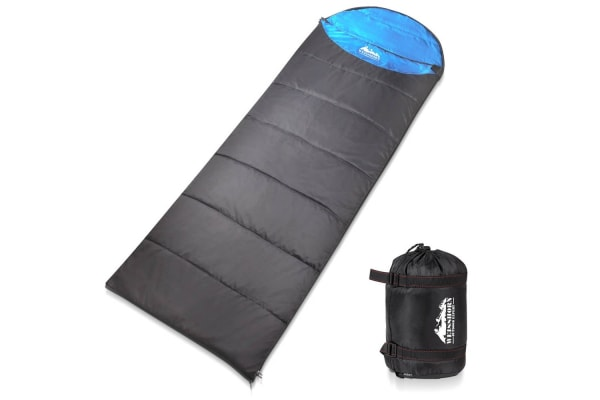 Camping Single Sleeping Bag 10 to 20 (Blue/Grey)