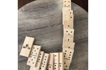 Giant Wooden Dominoes 28pc Party Games - Giant 30cm