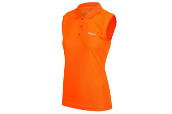 Regatta Great Outdoors Womens/Ladies Tima Sleeveless Polo Vest (Shock Orange)