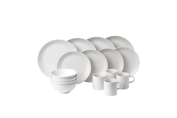 Royal Doulton Hemingway Design Dinner Set 16pc White