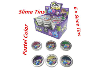 6 x Crazy Slime Tines Pastel Color Reduced Pressure Mud Stress Relief Kids Toy WMCVV