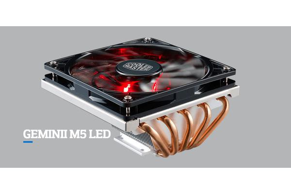 Coolermaster GeminII M5, Low Profile Multi Socket CPU Cooler, 5x Heatpipe