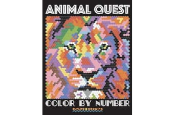 Animal Quest Color by Number - Activity Puzzle Coloring Book for Adults Relaxation & Stress Relief