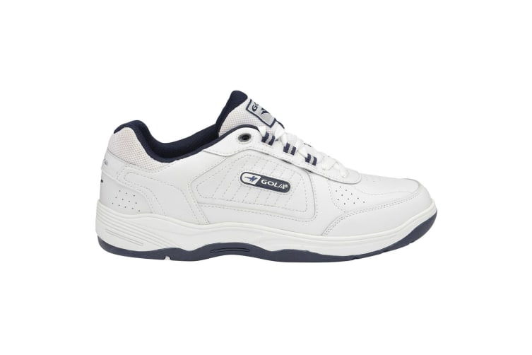 Gola Mens Belmont WF Wide Fit Trainers (White/Navy) (15 UK)