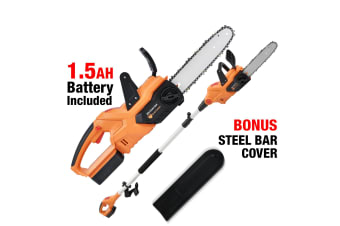 NEW Black Eagle 2in1 20V Electric Lithium-Ion Cordless Chainsaw & Polesaw