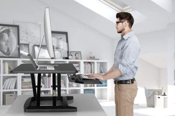 Kogan Height Adjustable Standing Desk Riser (Black, Large)