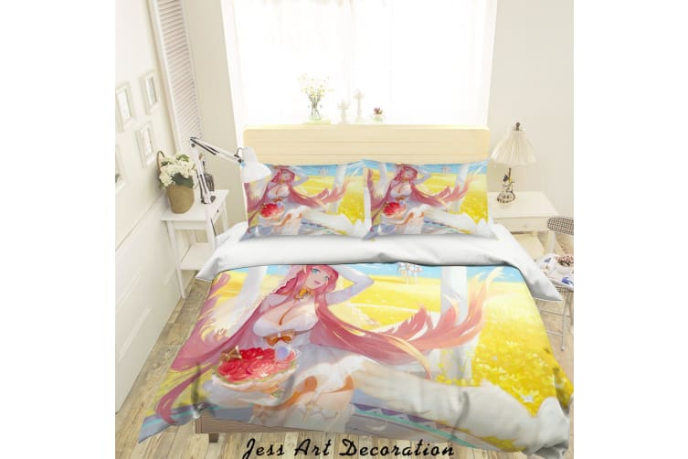 3D DARLING in the FRANXX Quilt Cover Set Bedding Set Pillowcases 45-Queen