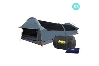 King Single Camping Swag Tent with Air Pillow (Navy)