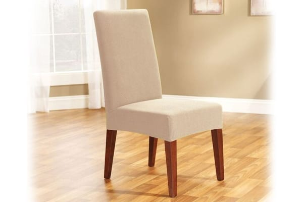 SureFit Pearson Dining Chair Cover (Ivory)