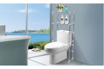 2 Tier Over Toilet Bathroom Storage Rack