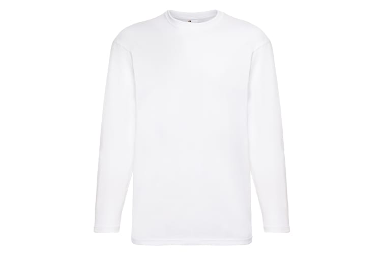 Mens Value Long Sleeve Casual T-Shirt (Snow) (Small)