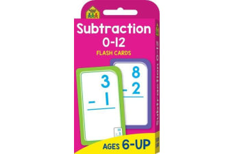 School Zone Subtraction 0-12 Flash Cards (new cover)