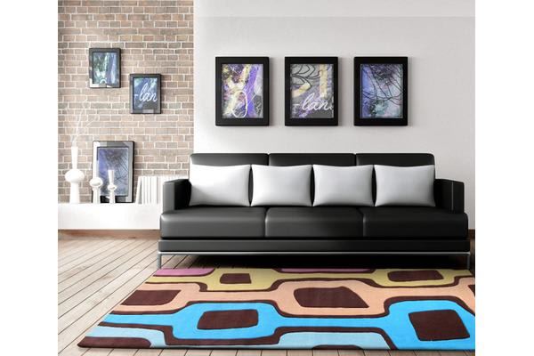Funk Retro  Multi Coloured Rug 225x155cm