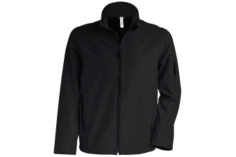 Kariban Mens Contemporary Softshell 3 Layer Performance Jacket (Black) (XL)