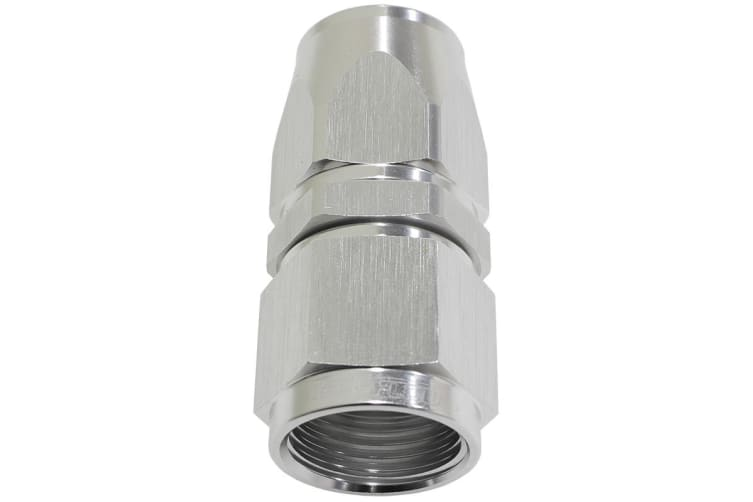 Aeroflow Alloy Straight Hose End -16AN Silver Swivel Nut Suit Teflon