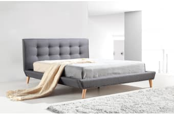 Fabric Double Bed Frame Grey 36 Results