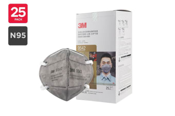 3M N95 9542 KN95 Particulate Respirator Mask (25 Pack)