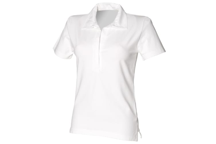 Front Row Womens/Ladies Short Sleeve Stretch Rugby Shirt (White) (M)