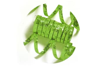 Creative Party Holographic Streamers (Lime Green)
