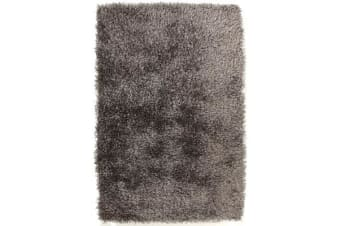 Metallic Noodle Shag Rug Grey