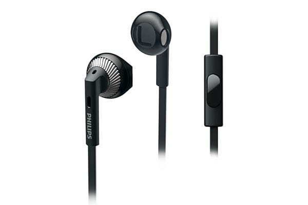 Philips In-Ear Headphones with Mic - Black (SHE3205BK)