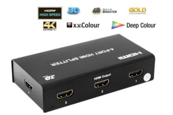Pro2 HDMI4SP 4 way HDMI splitter distributor 1 in 4 out /Booster 3D/4K/2K/1080p