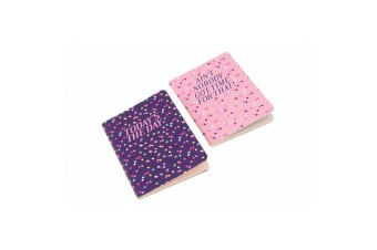 Sweet Tooth A6 Todays The Day  Aint Nobody Notebooks (Pack Of 2) (Pink/Purple)