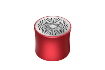 Bluetooth Speaker Desktop Metal Bass Wireless Portable Card Speaker Red