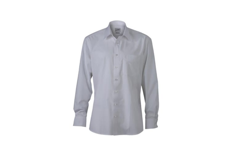 James and Nicholson Mens New Kent Shirt (White) (3XL)
