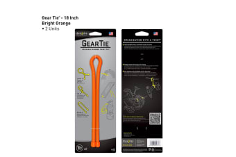 "Nite Ize Gear Tie 18"" 2 Pack - Bright Orange"