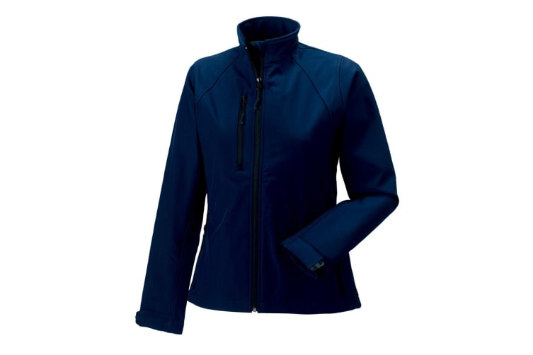 Jerzees Colours Ladies Water Resistant & Windproof Soft Shell Jacket (French Navy) (L)