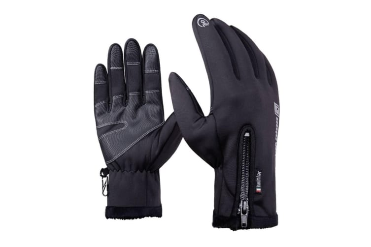 Ski Gloves Cycling Gloves Touchscreen,Double Layer Waterproof Winter Gloves 2Xl