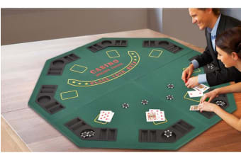 Foldable Green Octagon 8 Player Four Poker Game Table