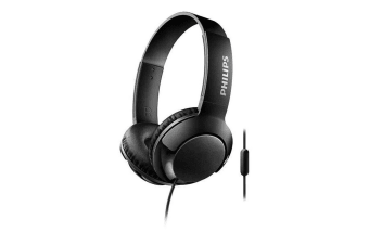 Philips SHL3075 Headphones Headband Headset Mic for Smartphones Apple Android BK