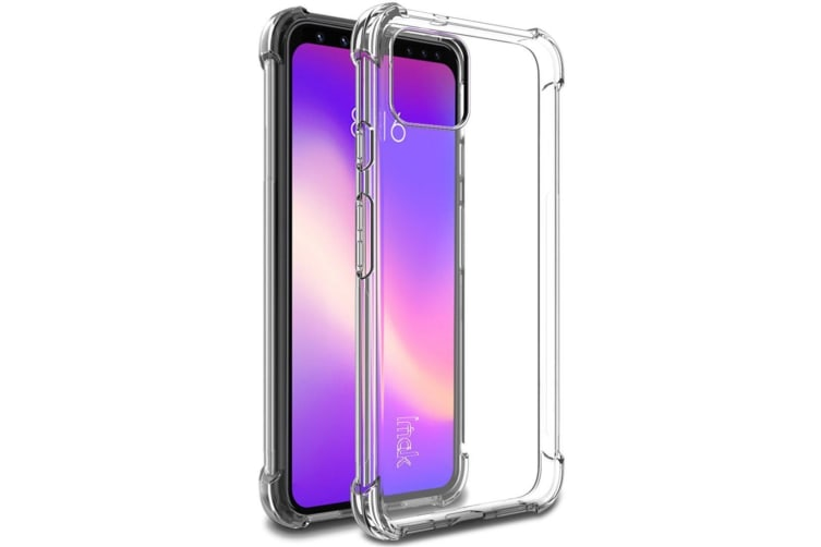 For Google Pixel 4 IMAK All-inclusive Shockproof Airbag TPU Case  Clear