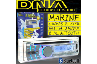 DNA MA5B MARINE FLUSH MOUNT AM FM RADIO CD MP3 IPOD USB BLUETOOTH 4x 25W WATTS