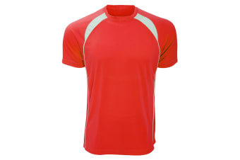 SOLS Mens Match Contrast Short Sleeve Performance T-Shirt (Red/White) (M)