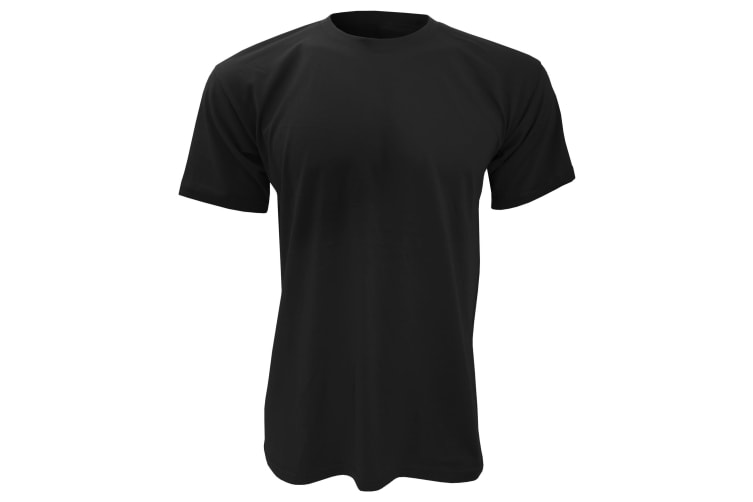 B&C Mens Exact 150 Short Sleeve T-Shirt (Black) (S)