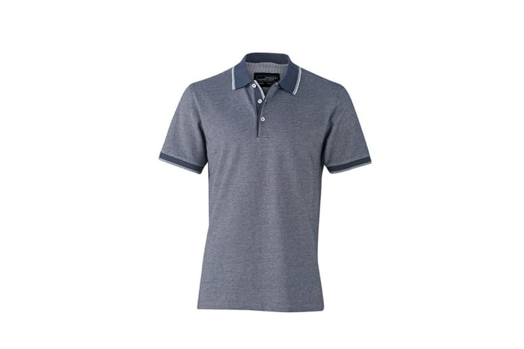 James and Nicholson Mens Polo Top (Navy/White) (XL)