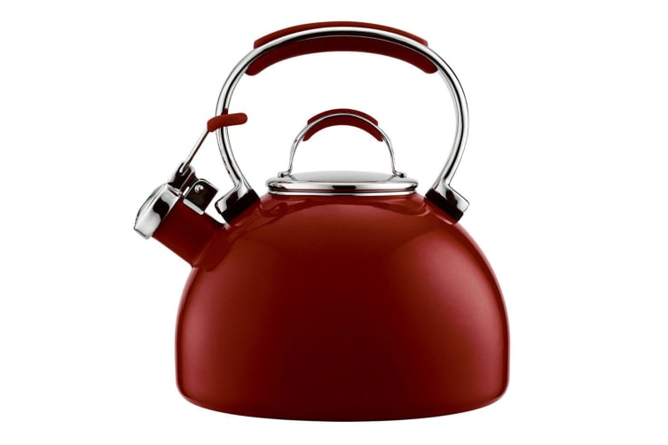 Essteele 1.9L Porcelain Stove Top Induction Whistling Water Kettle Kitchen Red