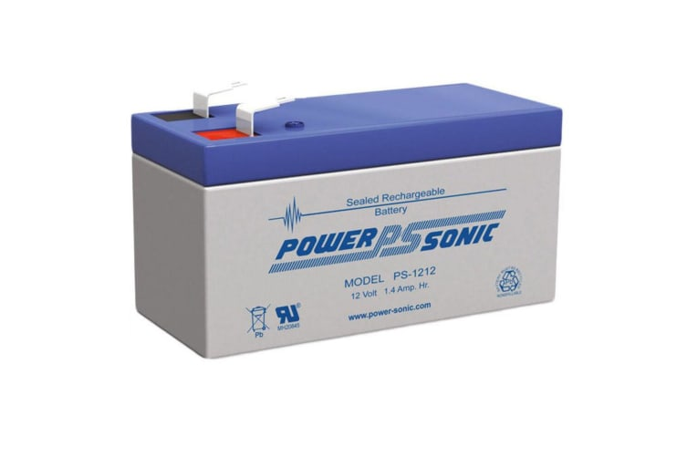 Power Sonic PS1212 12V 1.4Amp SLA Rechargeable Battery F1 Terminal Sealed Lead A