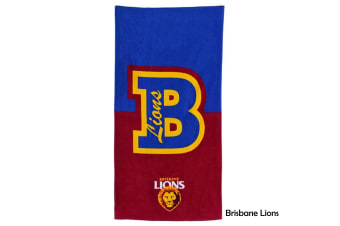 AFL Licensed Cotton Beach Towel Brisbane Lions