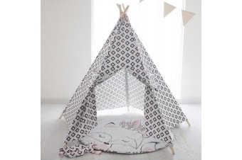 Bubba Blue 115cm Miss Fox Cotton Teepee/Play Tent w/ Windows f/ Kids/Unisex 3y+