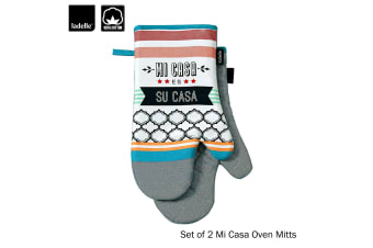 Set of 2 - Mi Casa Cotton Kitchen / BBQ Oven Mitts by Ladelle