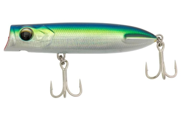 130mm Zerek Pug Face Popper Fishing Lure - Blue Fusilier
