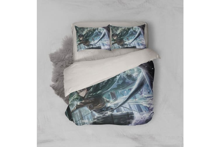 3D Anime Attack Giant Quilt Cover Set Bedding Set Pillowcases 81-Double