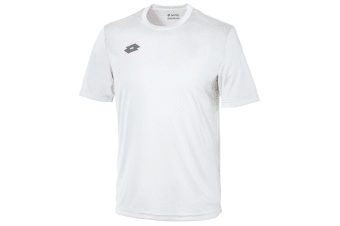 Lotto Mens Delta Jersey Short Sleeve T-Shirt (White/Pewter)