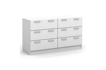 6 Chest of Drawers Table Cabinet Bedroom Storage White Dresser Tallboy