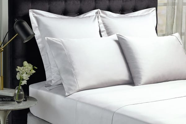 Royal Comfort 1500TC Cotton Blend Bed Sheet Set (King, White)