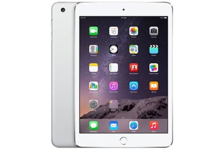 Used as demo Apple iPad Mini 3 16GB Wifi + Cellular Silver (100% GENUINE + AUSTRALIAN WARRANTY)